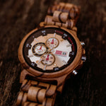 Load image into Gallery viewer, Edinburgh - Chronograph Wood Watch