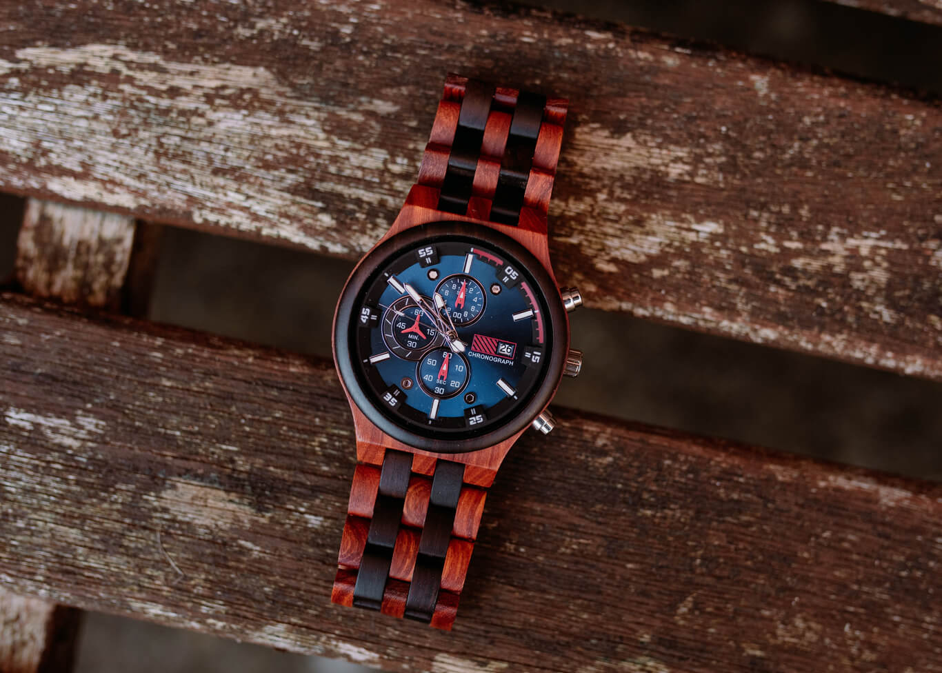 Lisbon - Chronograph Wood Watch