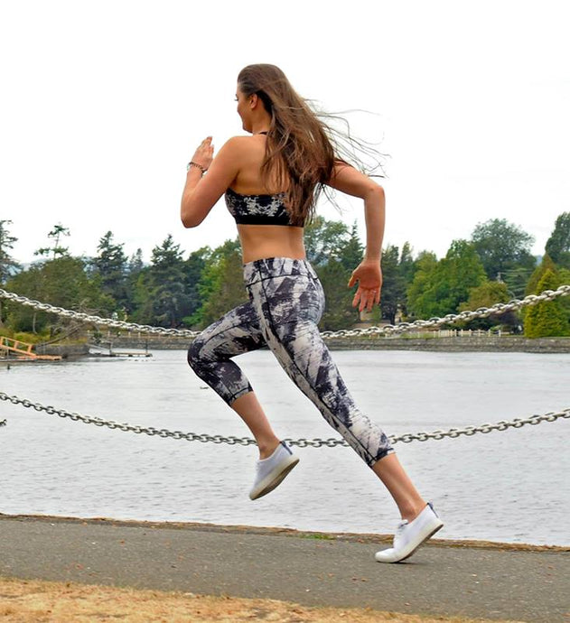Maddy Harlow take strides along the Gorge Park in Esquimalt