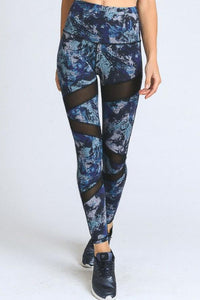 JP Activewear High-Waist Mesh Swirl Leggings