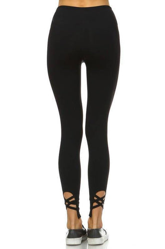 JP Activewear X Marks the Spot Leggings-Black