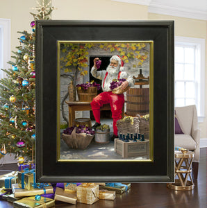 "CA1024 Vintage Santa Canvas Giclee Large - Framed  18"" X 24"""