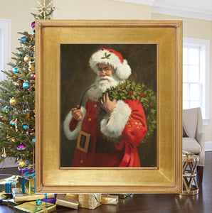 "CA1022  Spirit of Santa Canvas Giclee Large - Framed  24"" X 30"""