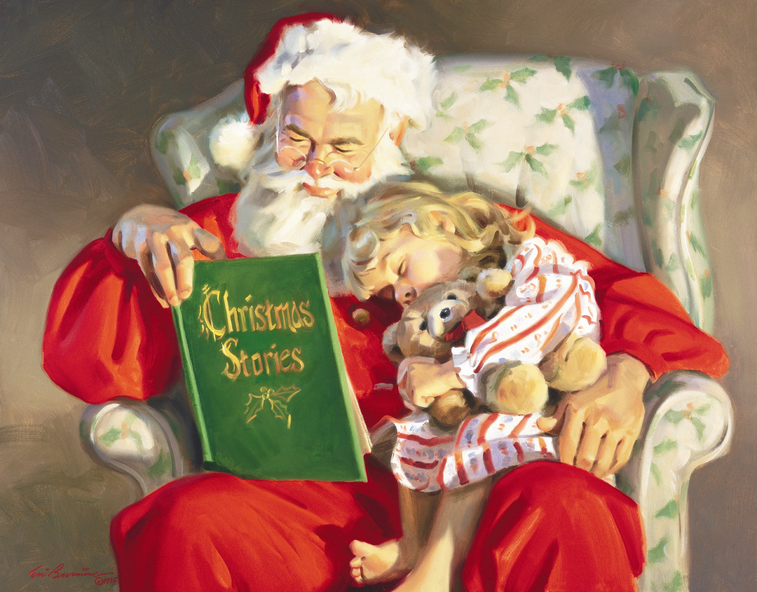 "C1031 Christmas Stories - Unframed Canvas Giclee 24"" X 30"""