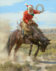 "C1087 Fun In The Saddle Paper Giclee - 18"" X 24""  Unframed"