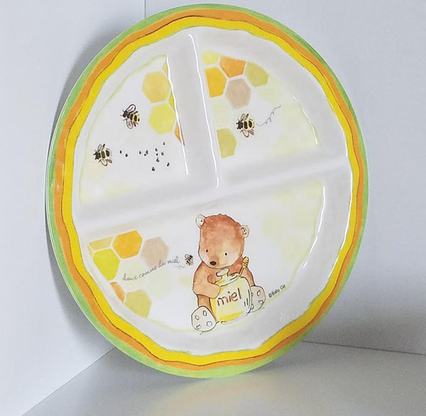 B1025 Baby Cie Sweet As Honey Plate, Cup and Bowl (Set of 3)