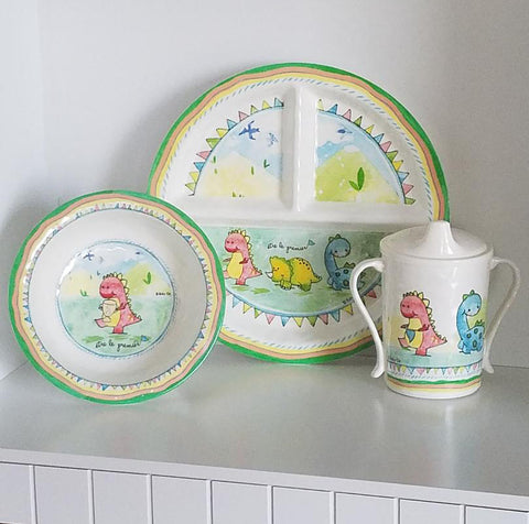 B1037 Be the Leader Plate, Bowl and Sippy Cup (Set of 3)