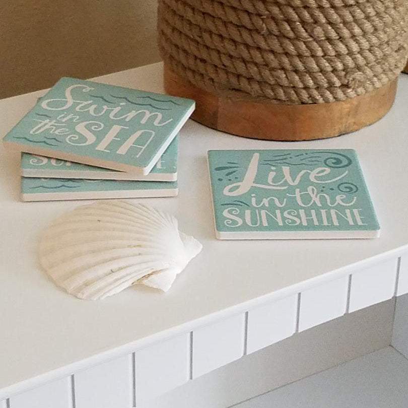 COS1031 Swim in the Sea, Live In The Sunshine Coasters (Set of 4)
