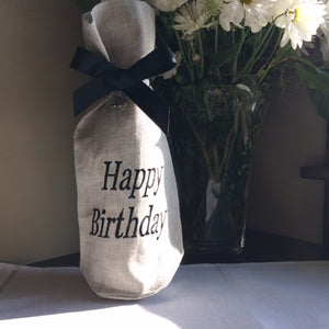 E1048 Happy Birthday Wine Bag