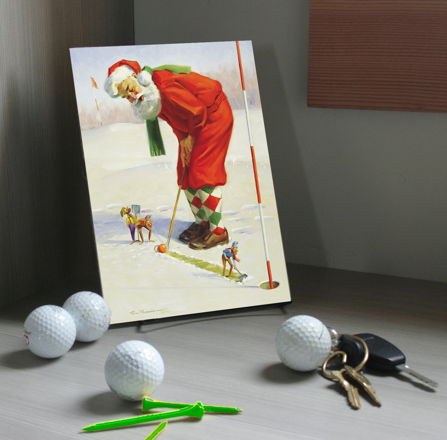 "CZ1091 Easy Putt I Mini Canvas Giclee  7"" X 10"""