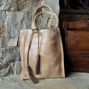I1002 Natural Baseball Stitch Tote