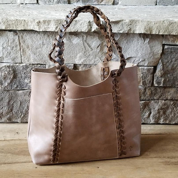 I1004 Natural Braided Tote