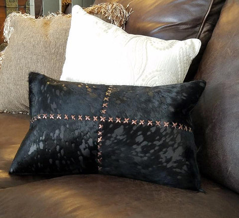 SH1009 Harley Bronze Leather Cushion Pillow