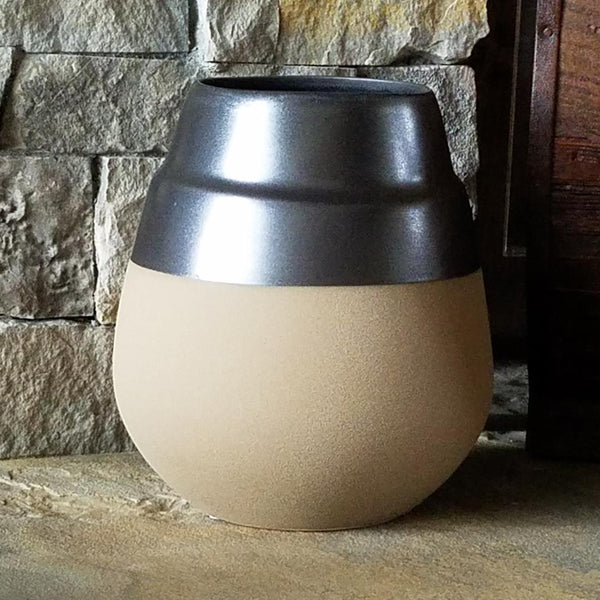 TW1013 Ceramic Vase Gray/Brown Large