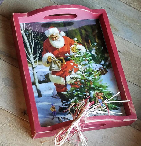 C1034 Snow Birds Santa Tray