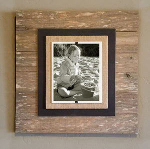 TW1006 Reclaimed Wood Picture Frame (Wood, Creme and Black)