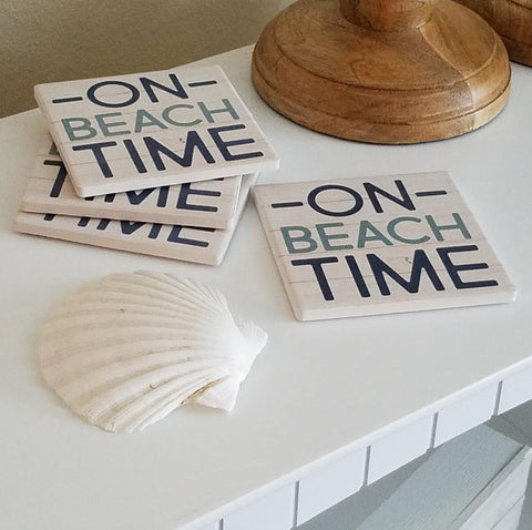 COS1029 On Beach Time Coasters (Set of 4)