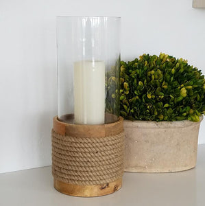 COS1019 Beach Rope Hurricane Candle (Large)