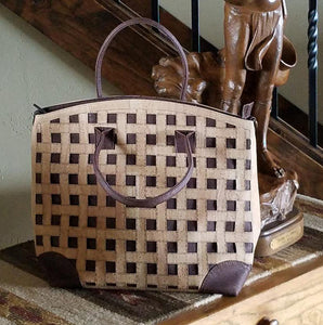 I1005 Large Cork Purse Two Toned