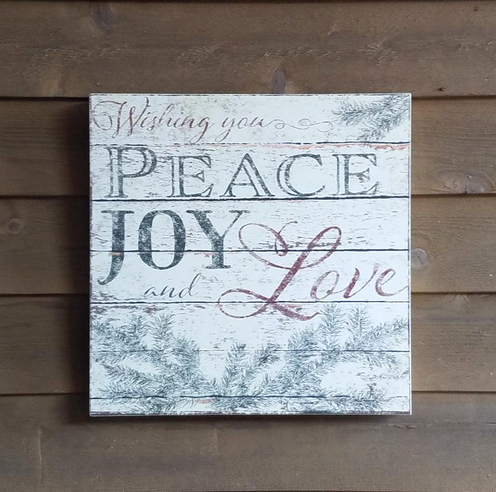 CH1007 Peace, Joy and Love Sign