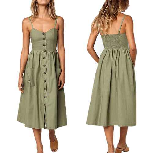 Casual  Vintage Sundress - Multiple Colors
