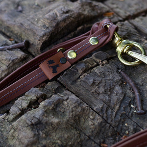 DUO Leash for handle - Naturel stitches