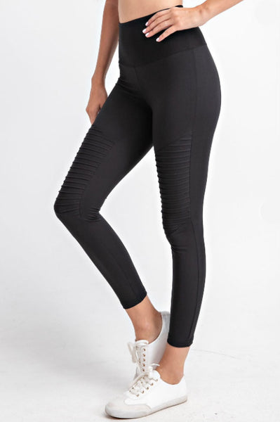 Buttery Soft Moto Leggings - Black