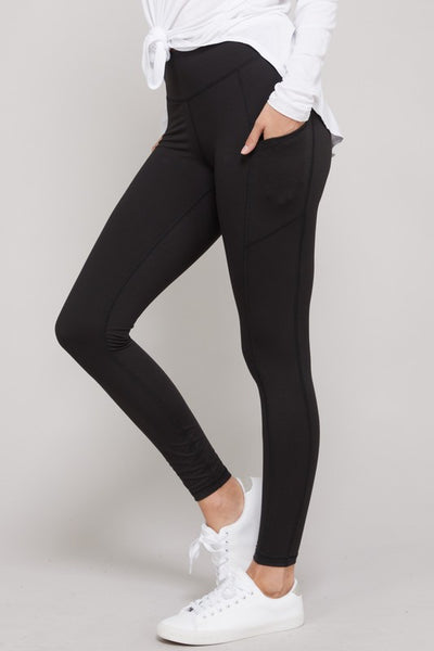Buttery Soft Pocket Leggings - Black