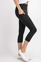 Buttery Soft Pocket Capris - Black