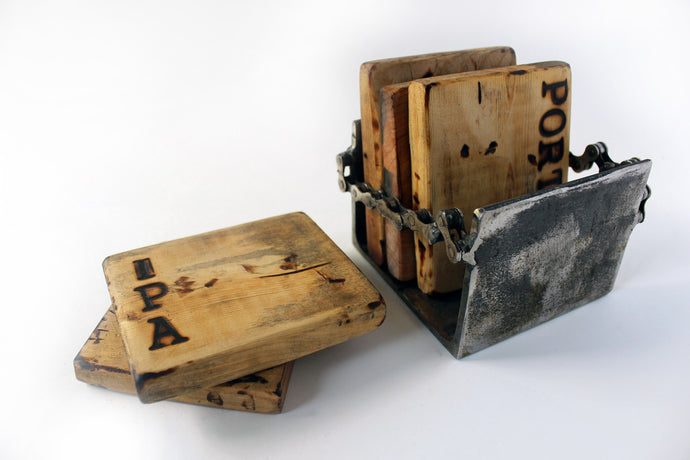 WOOD COASTER SET