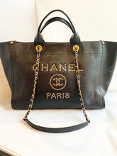 Chanel- Caviar Leather Gold Stud Medium Deauville