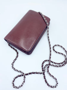 Burgundy Caviar Logo Wallet On Chain