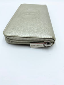 Silver Caviar Logo Large Zippy Wallet