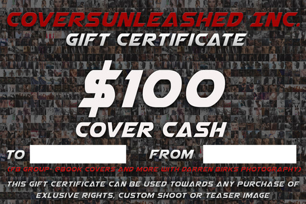 $100 Covers Unleashed Gift Certificate