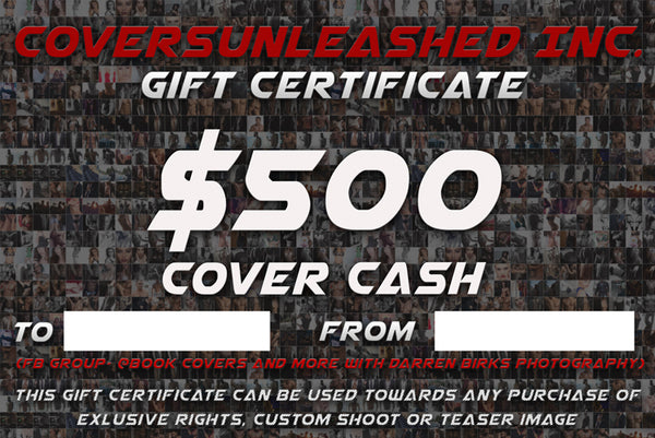 $500 Covers Unleashed Gift Certificate