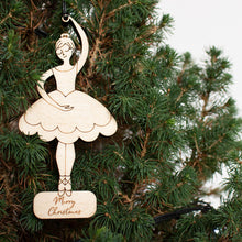 Personalised Ballerina Christmas Decoration
