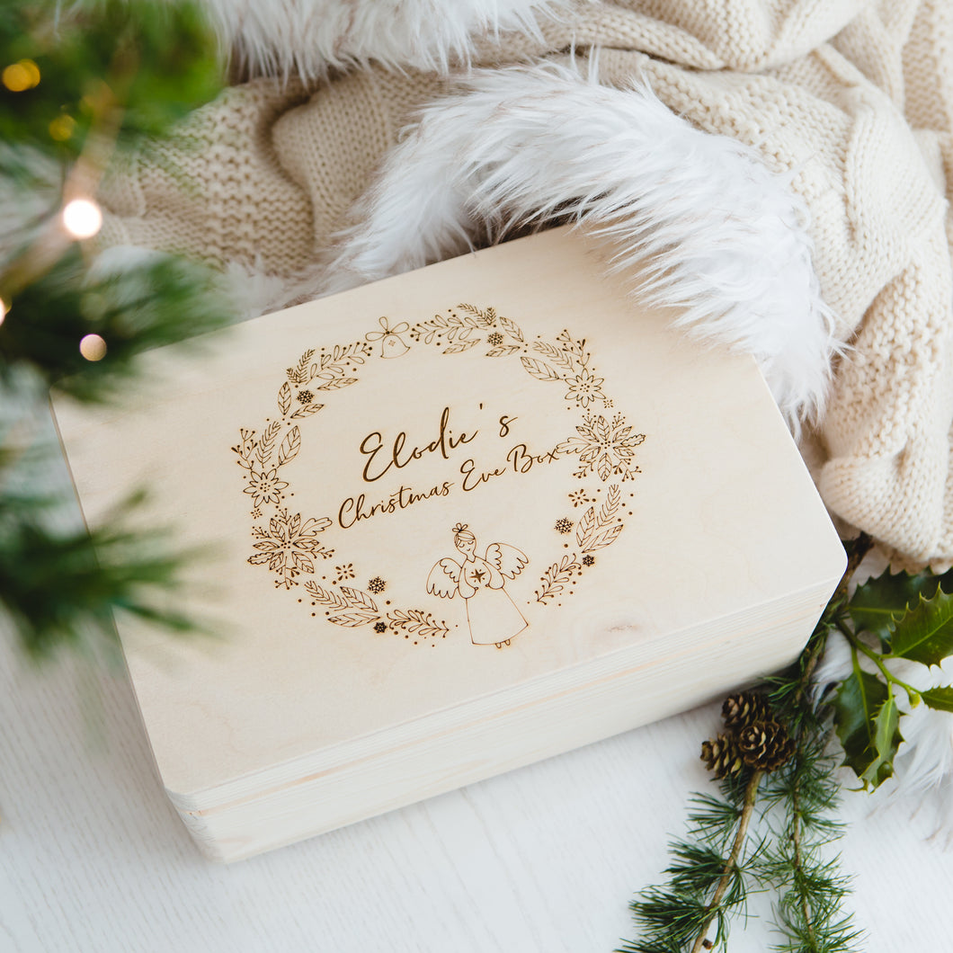Personalised Christmas Eve Box - Angel Wreath