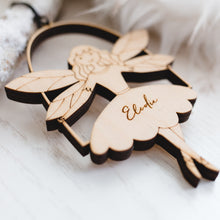 Personalised Angel on Swing Christmas Decoration