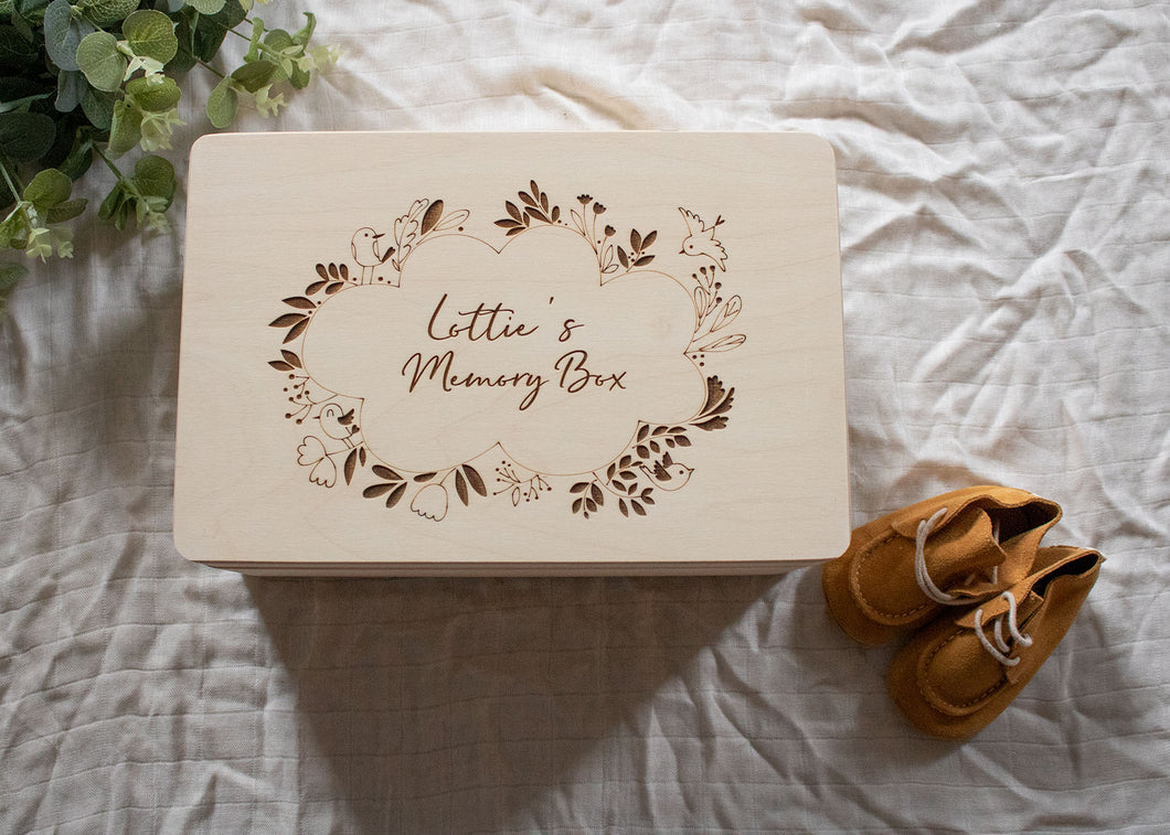Bird Wreath Memory Box