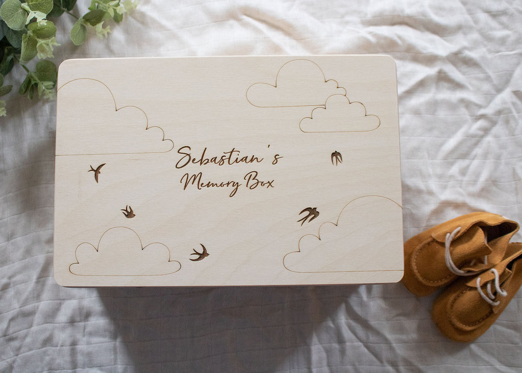 Birds & Clouds Memory Box