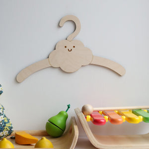 Little Cloud Child's Wooden Coat Hanger