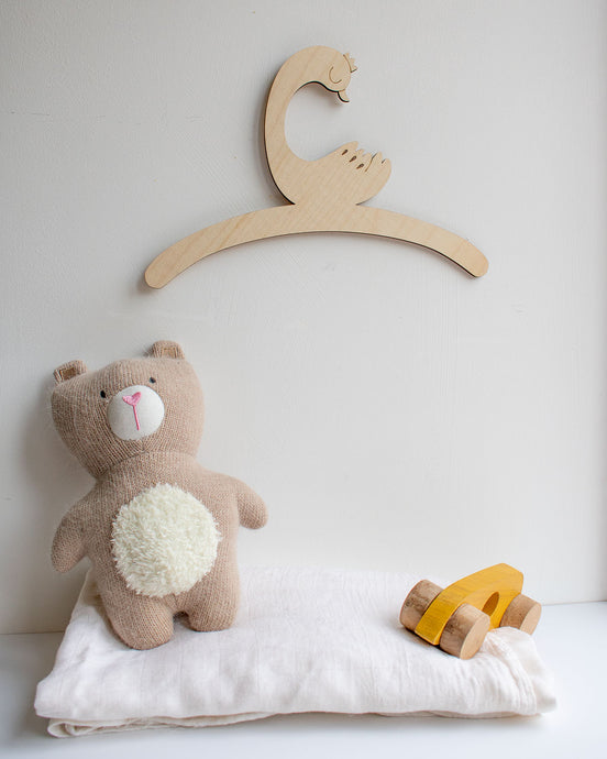 Little Duck Child's Wooden Coat Hanger
