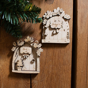 Christmas Elf Door with Christmas Tree detail