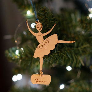 Personalised Swirling Ballerina Christmas Decoration