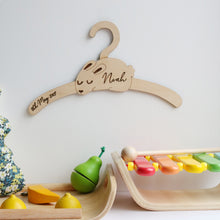 Little Rabbit Child's Wooden Coat Hanger