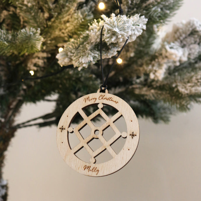 Snow Crystal Bauble