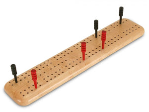 Birds-eye Maple Travel Cribbage Board