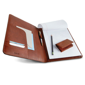 Classic Leather Padholder/ Padfolio
