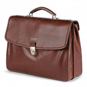 Classico 2-Gusset Flap Over Briefcase
