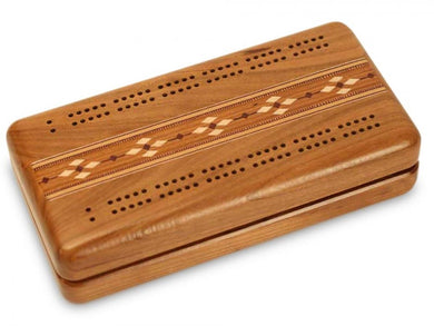 Cherry Cribbage Board Inlay and Cards